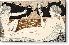 Personages De Comedie Acrylic Print by Georges Barbier
