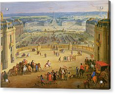 Perspective View From The Chateau Of Versailles Acrylic Print