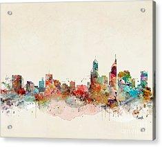 Acrylic Print featuring the painting Perth Australia by Bri B