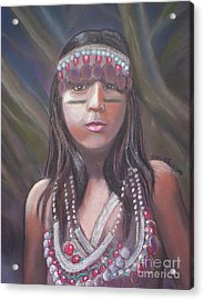Peruvian Girl Acrylic Print by Julie Brugh Riffey