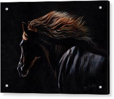 Acrylic Print featuring the painting Peruvian Paso Horse by David Stribbling