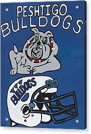 Peshtigo Bulldogs Acrylic Print