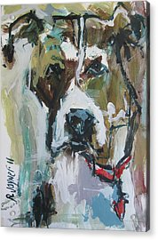 Acrylic Print featuring the painting Pet Commission Painting by Robert Joyner
