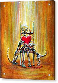 Acrylic Print featuring the painting Pet Love by Heather Calderon