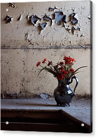 Petals And Peeling Paint - Preston Castle Acrylic Print