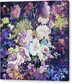 Acrylic Print featuring the painting Petals by Joanne Smoley