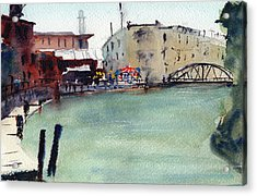 Petaluma Turning Basin Acrylic Print by Tom Simmons