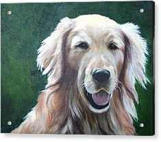 Acrylic Print featuring the painting Pete by Nancy Jolley