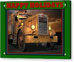 Pete Ol' Yeller Happy Holidays Acrylic Print by Stuart Swartz