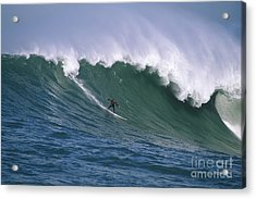 Pete On A Perfect Day At Mavericks Acrylic Print by Stan and Anne Foster