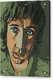 Pete Townshend - Behind Blue Eyes  Acrylic Print by Suzanne Gee