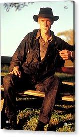 Peter Garrett, Lead Singer Of Midnight Oil, Sydney Harbour, 1989 Acrylic Print
