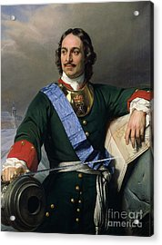 Peter I The Great Acrylic Print by Delaroche