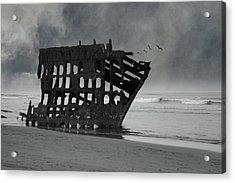 Peter Iredale Shipwreck At Oregon Coast Acrylic Print