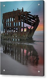 Peter Iredale Shipwreck At Sunrise Acrylic Print