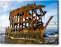 Peter Iredale Shipwreck - Oregon Coast Acrylic Print by Gary Whitton