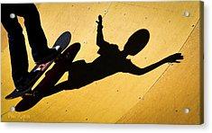Peter Pan Skate Boarding Acrylic Print