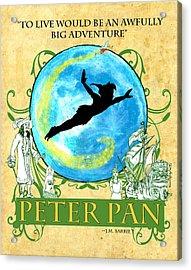 Peter Pan Tribute Acrylic Print by William Depaula