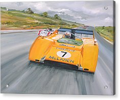 Peter Revson Can Am Acrylic Print