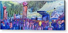 Acrylic Print featuring the painting Peter Rowen At Copper Mountain by David Sockrider