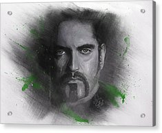 Acrylic Print featuring the drawing Peter Steele, Type O Negative by Julia Art