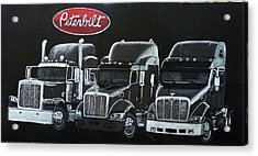 Acrylic Print featuring the painting Peterbilt Trucks by Richard Le Page