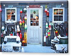 Peteys Lobster Pound Rye Nh Acrylic Print by Eric Gendron