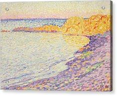 Petit Plage, Saint Tropez Acrylic Print by Theo van Rysselberghe