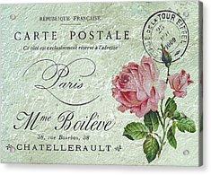 Petit Rose Confection Acrylic Print by Sarah Vernon