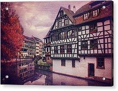 Petite France In Strasbourg  Acrylic Print by Carol Japp