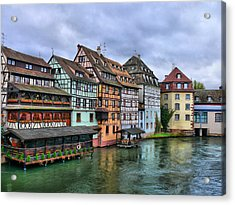 Petite-france, Strasbourg Acrylic Print by Richard Fairless
