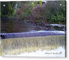 Petoskey Mi Mineral Park Waterfall  Acrylic Print