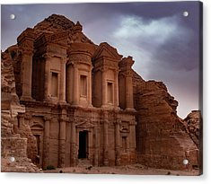 Petra's Monastery Acrylic Print