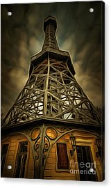 Petrin Lookout Tower - Mixed Media Acrylic Print