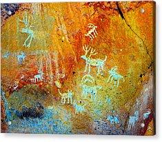Petroglyph Panel Work 12 Acrylic Print