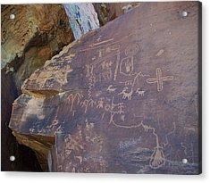 Petroglyph Acrylic Print by Steve Ellis