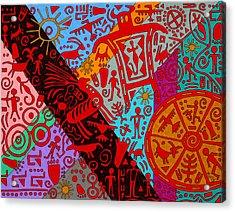 Petroglyphs Acrylic Print by Molly Williams