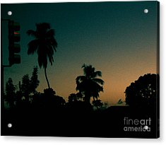 Petrol Night Acrylic Print by Barbara Marcus