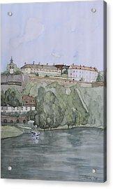 Petrovaradin Fortress Acrylic Print by Desimir Rodic