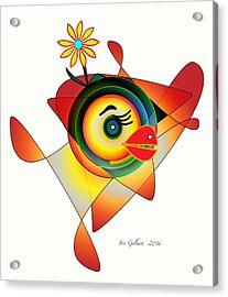 Petunia Parrot Acrylic Print by Iris Gelbart