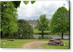 Petworth House On Lake Acrylic Print by Michael Hope