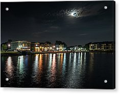 Pewaukee At Night Acrylic Print