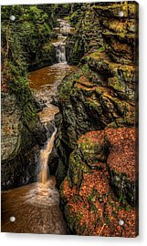 Pewits Nest Three Waterfalls Acrylic Print