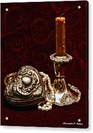 Pewter And Pearls Acrylic Print by Christopher Holmes