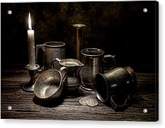 Pewter Still Life II Acrylic Print by Tom Mc Nemar