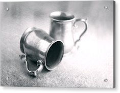 Pewter Tankards Still Life Acrylic Print by Tom Mc Nemar