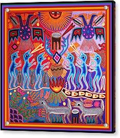 Peyote Shaman Hunting Ritual Acrylic Print