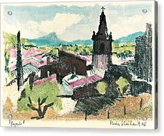 Peyruis Village In Provence Acrylic Print by Martin Stankewitz