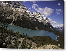 Acrylic Print featuring the photograph Peyto Lake by John Gilbert