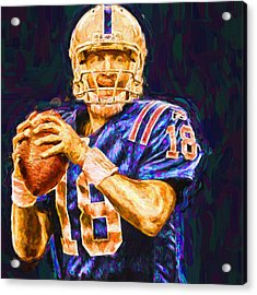 Peyton Manning Indianapolis Colts Nfl Football Painting Digital Acrylic Print by David Haskett